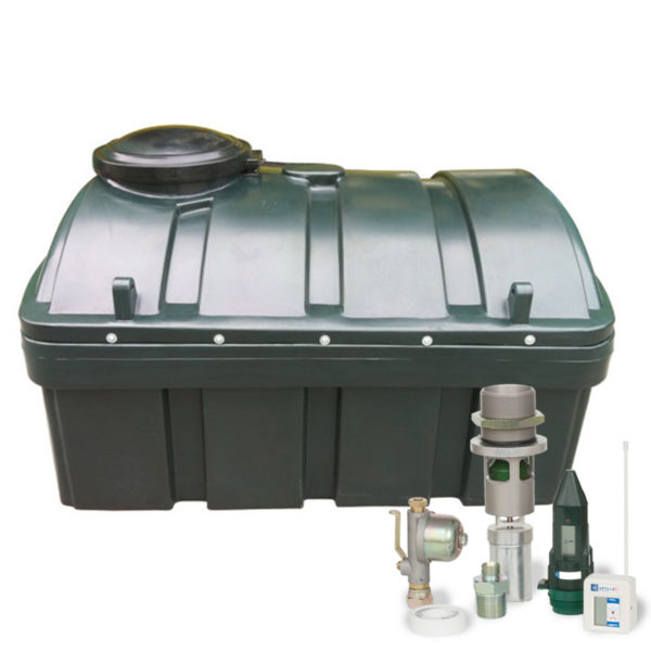 Low Profile Bunded Oil Tank 1250l